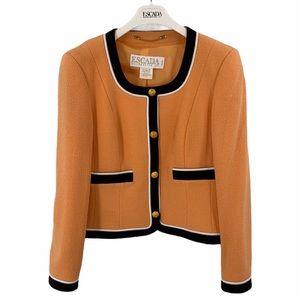 Escada short jacket virgin wool size 12 orange